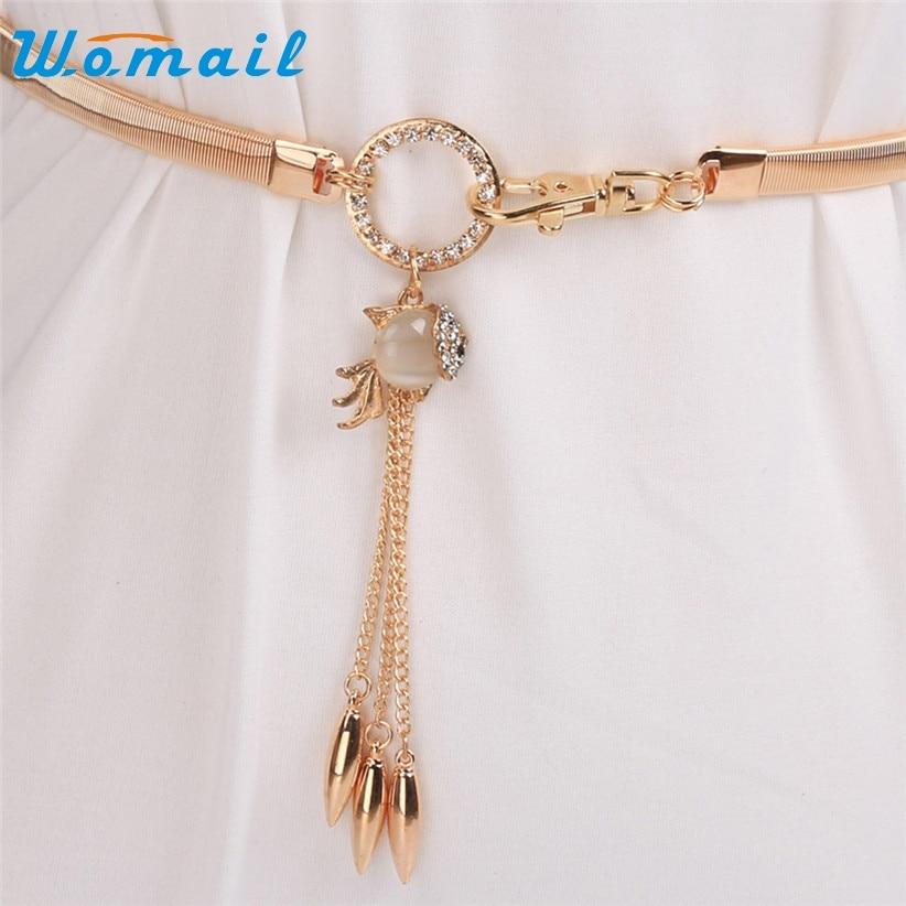 Waist Belt Womail Women Fashion Chain Rope Goldfish Diamond Rhinestone Waist Strap 70419 Drop Shipping