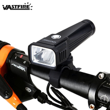 USB Rechargeable Front Handlebar Cycling Lamp T6 Bicycle MTB Riding Light 3 Switch Modes Bike Accessories