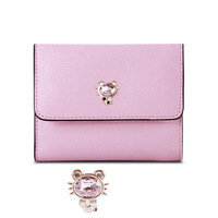 Ladies style sweet women wallets and coin purse shape small and cute are essential for fashion girls card holder leather wallet
