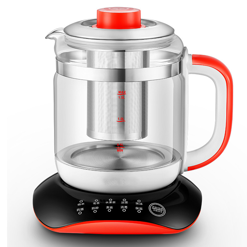 Electric kettle Multi-functional health care flower tea add thick glass pot Safety Auto-Off Function free shipping multifunctional health pot kettle with thick glass automatic tea insulation safety auto off function