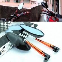 CNC мотоцикла боковые зеркала Зеркало заднего вида Универсальный для KAWASAKI HONDA DUCATI Suzuki Yamaha Kawasaki Триумф KTM Кафе Racer