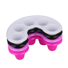 1pcs Five-hole Nail Polish Remover Bowl Soak Nail Art Hand Wash Remover Soaks Bowls DIY Salon Nail Spa Bath Treatment Manicure