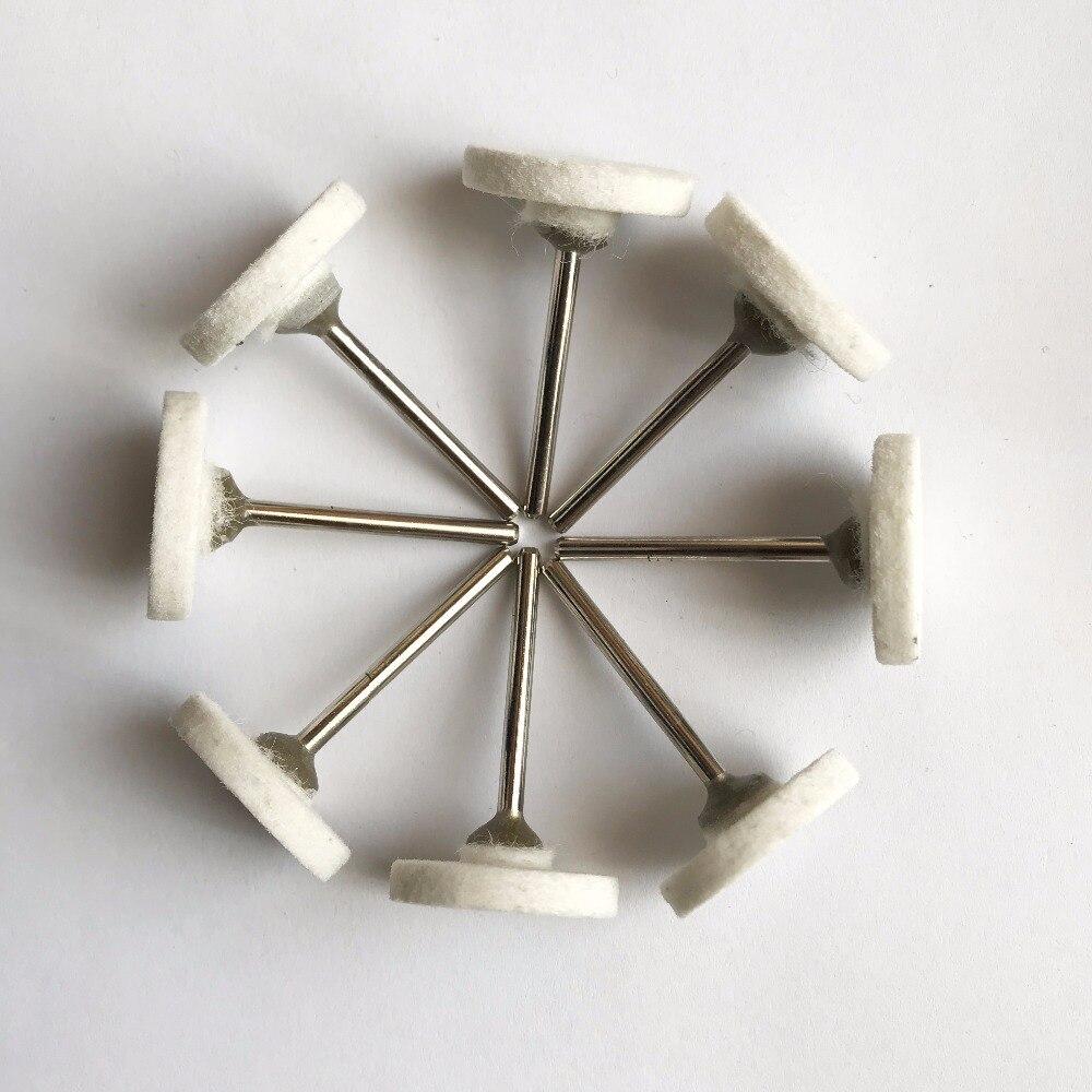 20pcs/pack 3*25mm T Shape Felt Wool Polishing Head Dremel Drills Die Grinder Rotary Tools