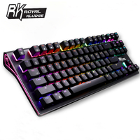 RK G 87 87keys Wireless Bluetooth 3.0 USB Wired Dual Mode Mechanical Gaming Keyboard Brown Switch Brown Switch