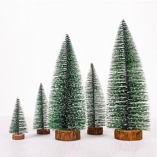 1pcs Mini Christmas Tree Small Pine Tree Diy Xmas Ornament Desktop