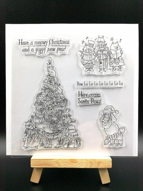 Árvore de natal especial de Silicone Transparente Claro Carimbo/Selo para scrapbooking DIY/álbum de fotos Decorativo claro folhas de selos H088