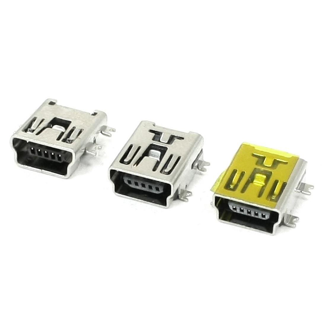 10 Pcs Micro USB Type B Socket 180 Degree 5-Pin SMD SMT Soldering TS