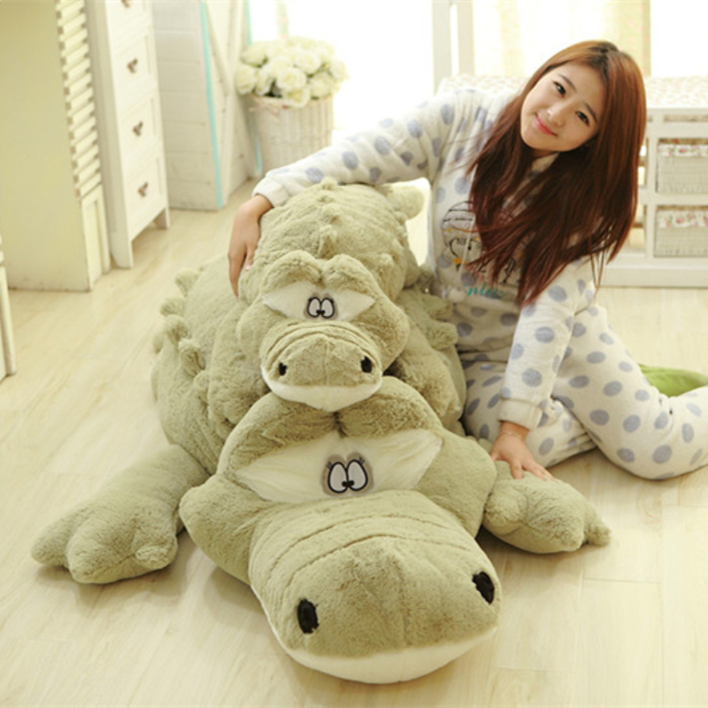 "2 Colors Huge Big Lovely Crocodile Toys 79"" 200cm Biggest Crocodile Pillow Plush Stuffed Crocodile Alligator Toy"