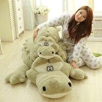 2 Colors Huge Big Lovely Crocodile Toys 79'' 200cm Biggest Crocodile Pillow Plush Stuffed Crocodile Alligator Toy