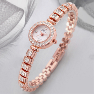 Image 1 - PREMA Ladies Bracelet Watch Women Luxury Fashion Rhinestone Quartz Watches Small Dial Stainless Steel Wristwatch Relogio 2020