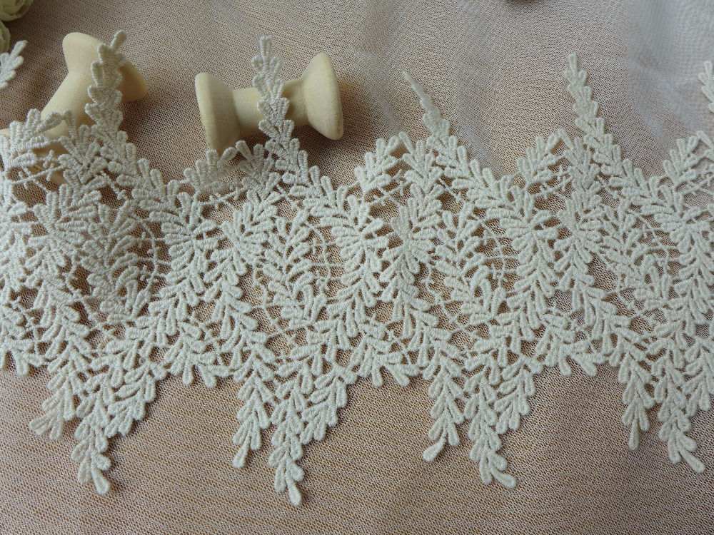 13 cm Hof Blatt Muster Beige Baumwollspitze Hometexile Tuch Wrap ...