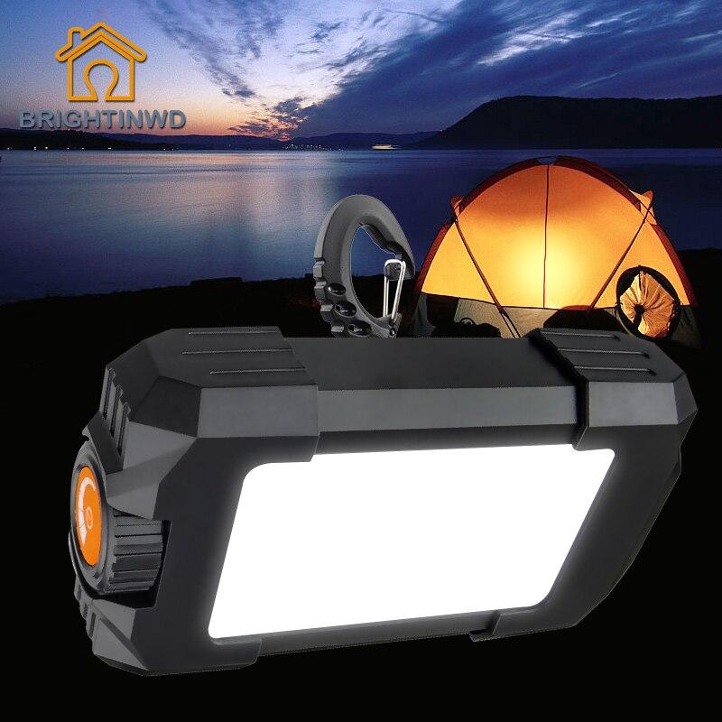 10 w Camping Tente Lumière Extérieure Rechargeable Portable Lanterne 27 Led Lampe 500LM Flasher lampe de Poche avec USB interface BRIGHTINWD