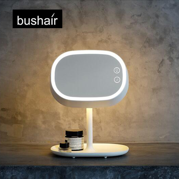 bushair 2 in 1 LED Makeup Mirror Lamp  Table Stand Cosmetic Mirror Night  Light  Chargeable Lithium Battery in Makeup Mirrors from Beauty   Health on. bushair 2 in 1 LED Makeup Mirror Lamp  Table Stand Cosmetic Mirror