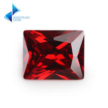 50pcs rectangle shape  5a+ garnet color cz stone 3x5 10x12mm