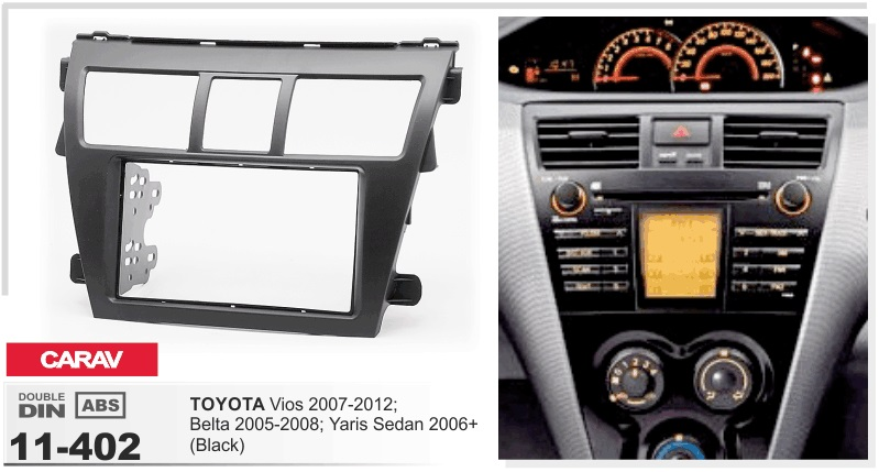 цена на Frame+android 6.0 car dvd player for toyota vios belta yaris sedan 2007-2012 multimedia stereo radio tape recorder head units