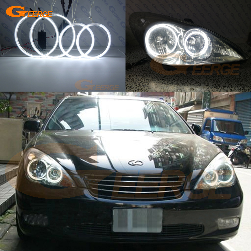 For Lexus ES300 ES330 2002 2003 2004 headlight Excellent Ultra bright illumination CCFL Angel Eyes kit Halo Rings free shipping super bright ccfl angel eyes halo rings kit for bmw e83 x3 auto headlight 4 rings 2 waterproof inverters page 7