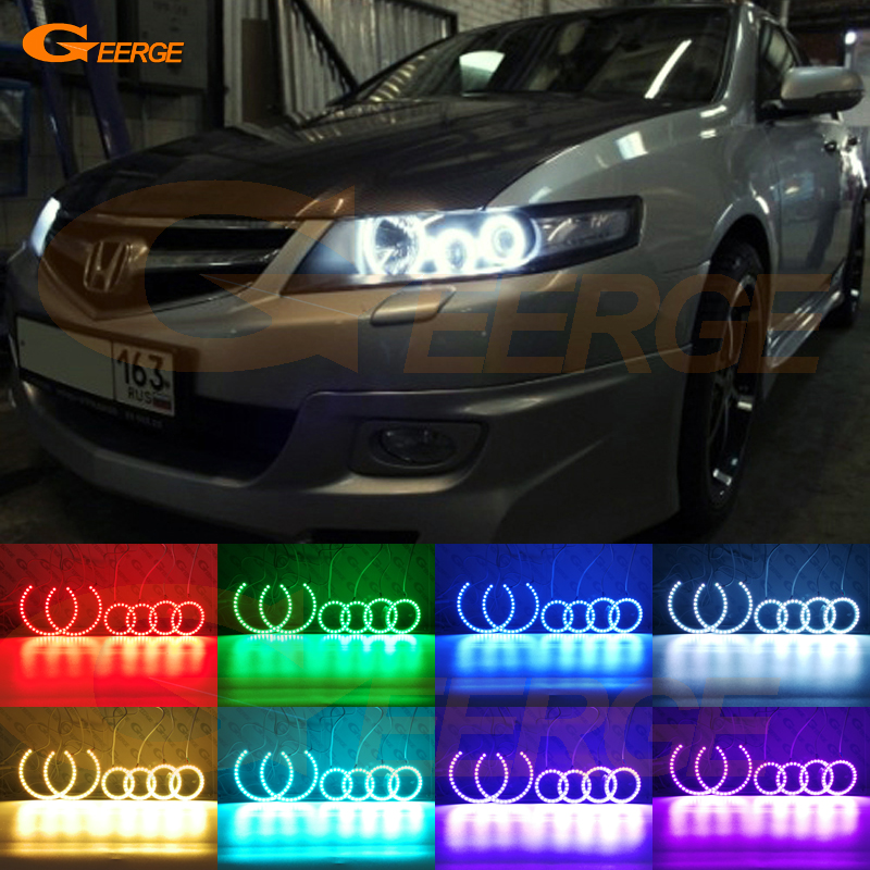 For honda accord CL7 CL9 CM2 2002 2003 2004 2005 2006 2007 Excellent Angel Eyes Multi-Color Ultra bright RGB LED Angel Eyes kit