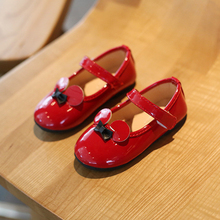 Princess Girl Shoes Patent Leather Mickey Girls Loafers Little Flats Kids Toddler Sandals Child Summer For