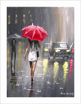 Modern Abstract Painting The Raining Day Canvas Wall Art Decor Oil Painting Hand Painted High Quality Reproductions No Framed