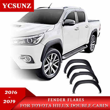Fender Flares Mudguards Wheel Arch For Toyota Hilux 2016 2017 2018 2019 Double Cabin Slim Black - DISCOUNT ITEM  30% OFF All Category