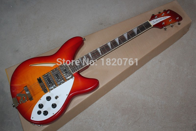 Free shipping Wholesale Top Quality 6 Strings Rick 330 325 Guitar 3 Pickups R Tremolo Electric Guitar In Stock 1461
