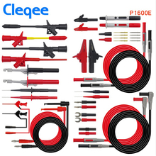 Cleqee P1600C/D/E/F 18 in 1 Pluggable Multimeter probe test leads kit a