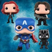 10 cm Vingadores Homem De Ferro Figura de Ação Brinquedos Marvel Capitão América 3 Guerra Civil Viúva Negra Pantera Soldado Inverno