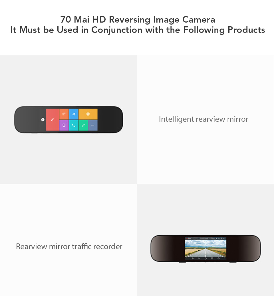 Xiaomi 70mai Reversing Rear Camera 720P HD Night Vision IPX7 Waterproof Double Recording 138 Degrees Wide Angle (3)