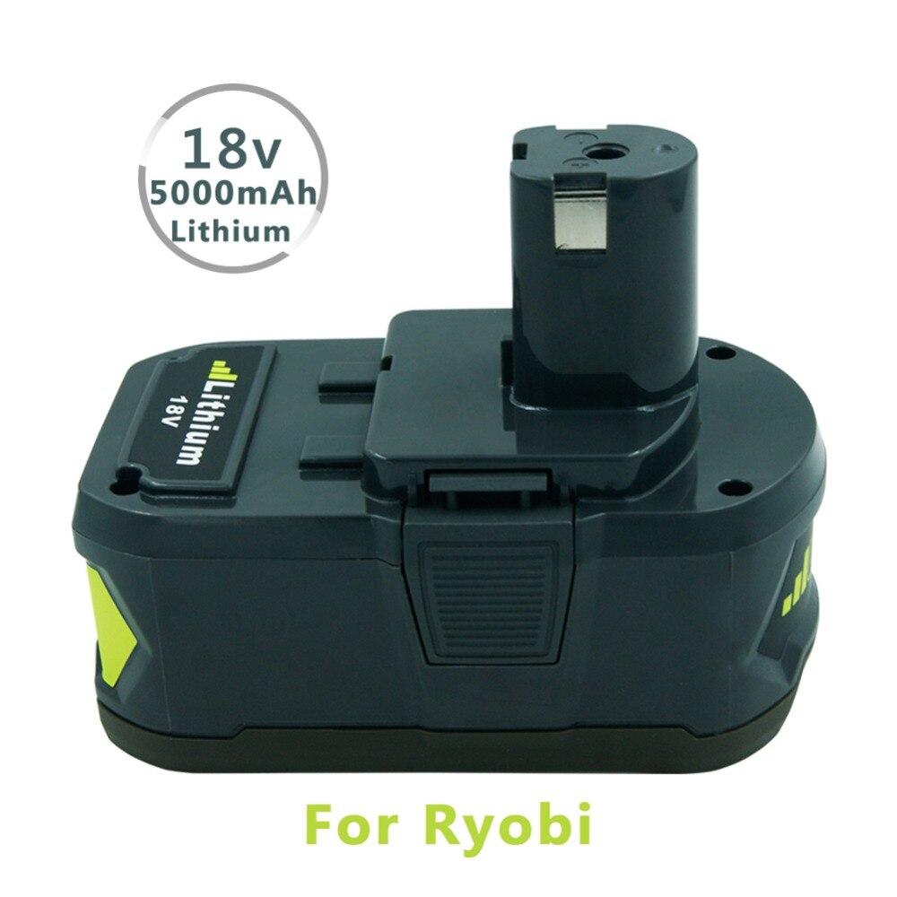 Nouveau Remplacement 18 v 5000 mah Au Lithium Ion Rechargeable Outil Batterie pour Ryobi 18-Volts Outil P122 P102 P103 p105 P107 P108