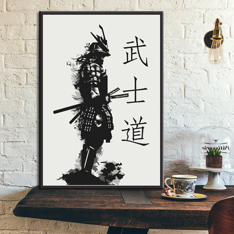 Posters and Prints Armored Samurai Hot Japan Anime Poster Wall Art Picture Canvas Painting for Room Home Decor(China)