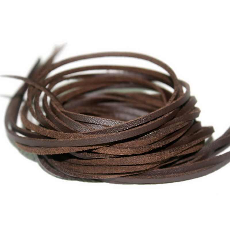 Лидер продаж мм 3 мм ширина 1 м/лот плоская Искусственная Замша корейский бархат кожаный шнур веревка бархат для одежды/сумка DIY Плетеный ремесло