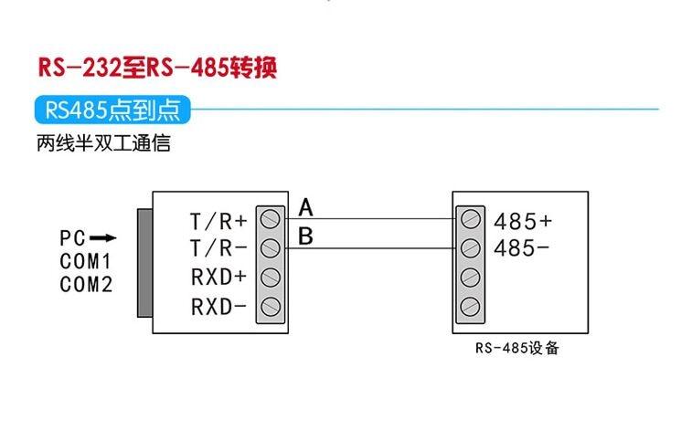 מתאם סדרתי RS232 כדי RS485 פסיבי ממשק המתאם ממיר נתונים Communication1.2 ק