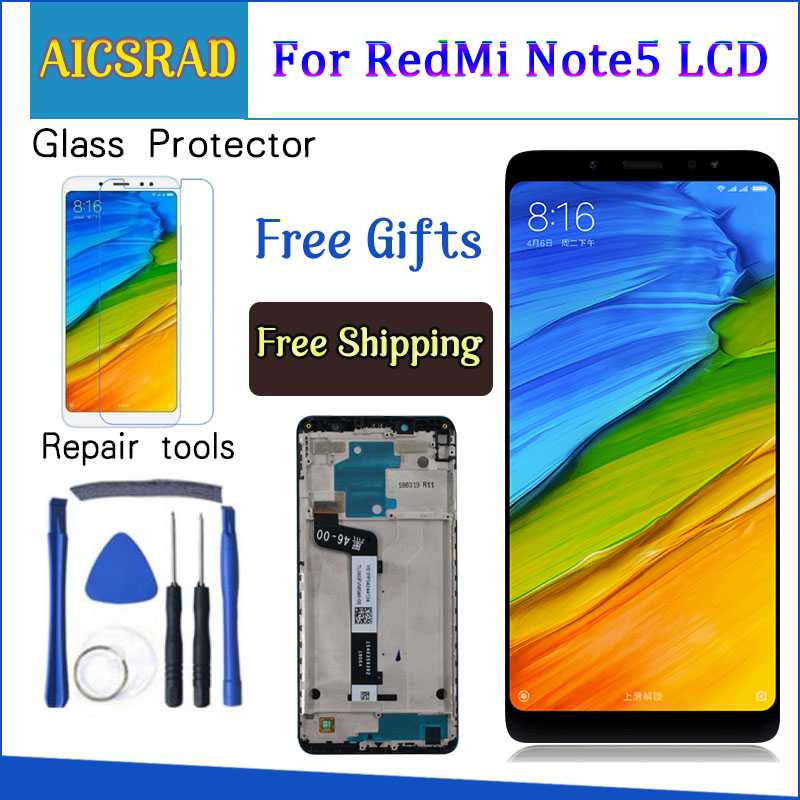 For <font><b>Xiaomi</b></font> <font><b>Redmi</b></font> <font><b>Note</b></font> <font><b>5</b></font> <font><b>Pro</b></font> <font><b>LCD</b></font> <font><b>Display</b></font> <font><b>Note</b></font> <font><b>5</b></font> <font><b>Touch</b></font> <font><b>Screen</b></font> Digitizer Assembly Replacement For <font><b>Xiaomi</b></font> <font><b>Redmi</b></font> Note5 <font><b>5</b></font>.99 Inch <font><b>LCD</b></font> image