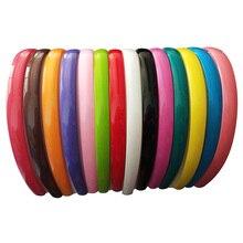 15 мм яркие цветные пластиковые ободки для волос, женские летние цветные модные повязки для волос, аксессуары для волос для девушек, 12 шт./партия