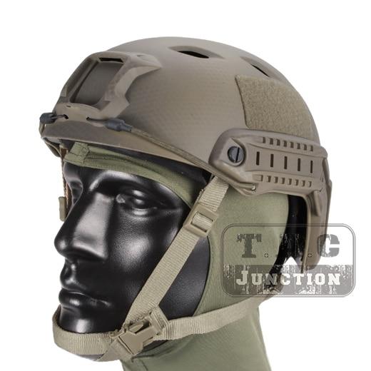 Emerson Tactical Airsoft Fast Helmet Bump Jump BJ Type Advanced Adjustment Combat Lightweight Modular OPS Helmet w/ Side Rail emerson airsoft tactical fast protective helmet pararescue jump pj type kryptek mandrake em5668i