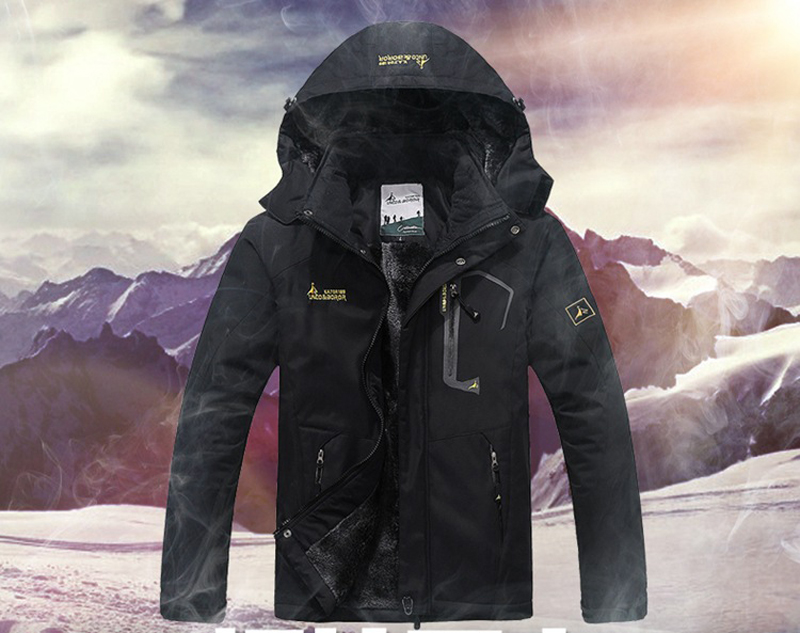 UNCO&BOROR winter jackets men women`s outwear fleece thick warm cotton down coat waterproof windproof parka men brand clothing 9
