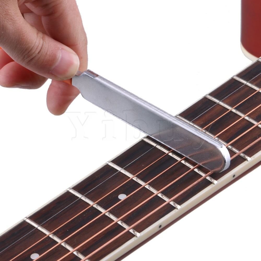Yibuy 184 x 15 x 4mm Guitar Fret Crowning Luthier File Dual Cutting Edge guitar fret crowning file dressing file with 3 edges 1mm 2mm and 3mm luthier tool