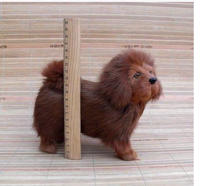 new simulation Tibetan mastiff dog model toy polyethylene & furs brown dog doll gift 18x8x16cm 1878