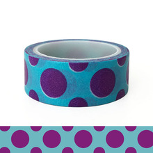 20pcs/set Spot Purple Circle Festival Washi Tape Children DIY Decorative Sticker Tent and Paper Holiday Decoration