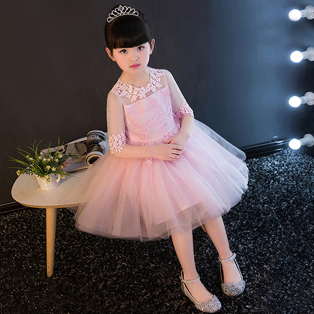 Girls Party Wear Dress Kids 2017Embroidery lace children girls ...