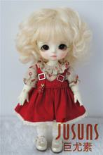 JD012 1/8 1/12  BJD doll wig Lovely Mohair Wigs Suit for size 3 4inch 4 5inch5 6 inch doll  fashion doll accessories