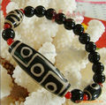 2016 New Arrival Tibet Dzi Bracelet  Nine Eyes Old  Dzi Brand-New Condition with Red agate Spacers