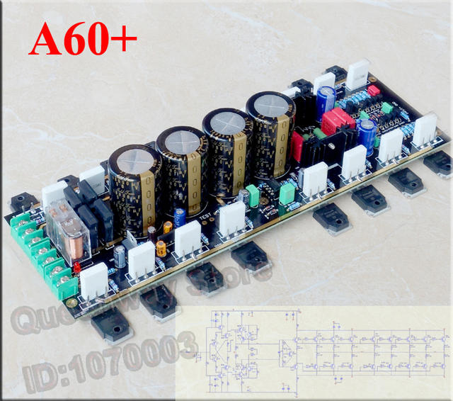 US $142 0 |A60+ reference version current feedback board/circuits power  amplifier Circuits Toshiba 2SC5200 2SA1943 Amplifier tube -in Amplifier  from