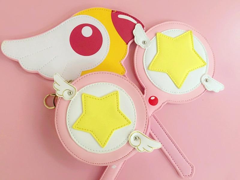 Costumes & Accessories Japanese Anime Card Captor Kinomoto Sakura Star Stick Card Magic Girl Sakura Anime Cosplay Bird Head And Stars Cane Card Handbag