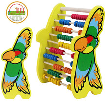 2016 Wooden frame and colorful ten arithmetic calculation abacus frame for children educational toys wholesale