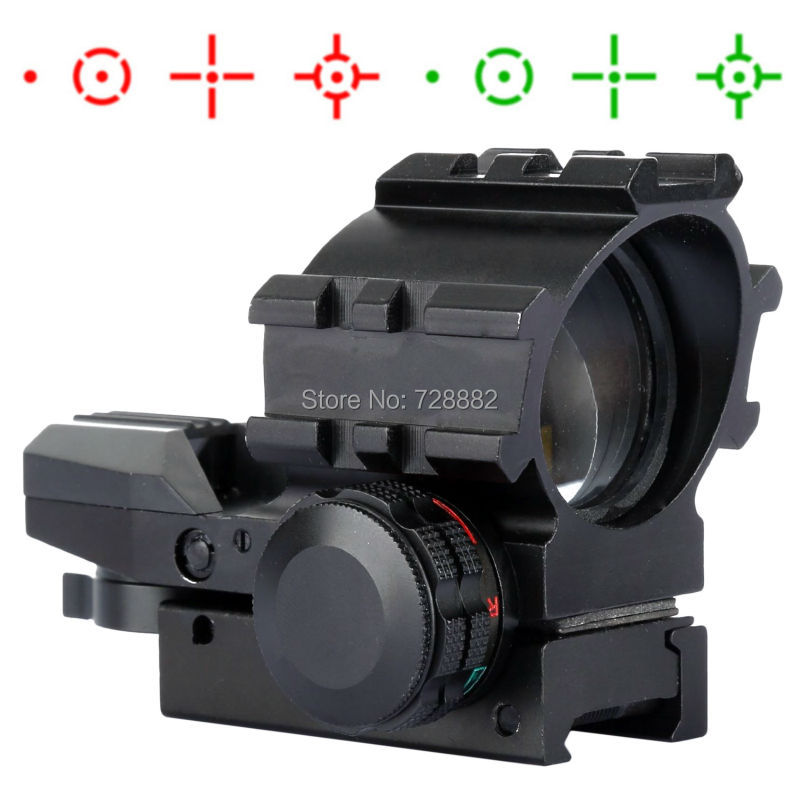 Tactical Holographic 4 Reticles Illumination Green Red Dot Reflex Sight Scope With Weaver Picatinny Rail Mount new holographic tactical red green 4 reticles reflex dot scope