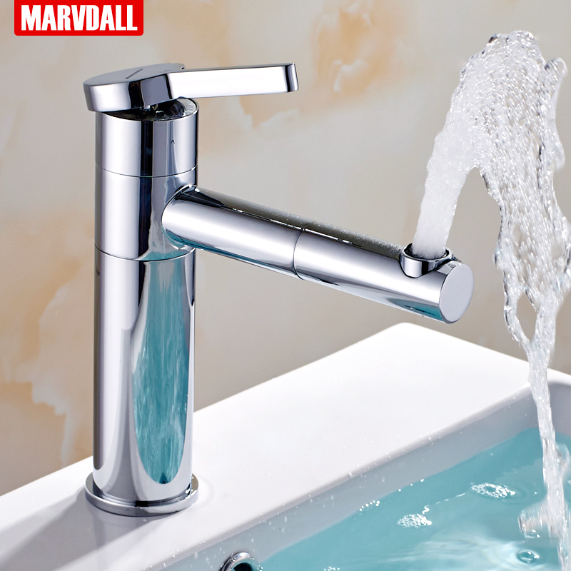 Free Shipping Bathroom Basin Faucets Hot And Cold Water Single Handle Sink Taps Mixer Bath