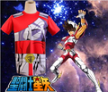 Free Shipping Saint Seiya Bronze Saint Seiya Pegasus Cloth Summer T-shirt Anime Cosplay Costume
