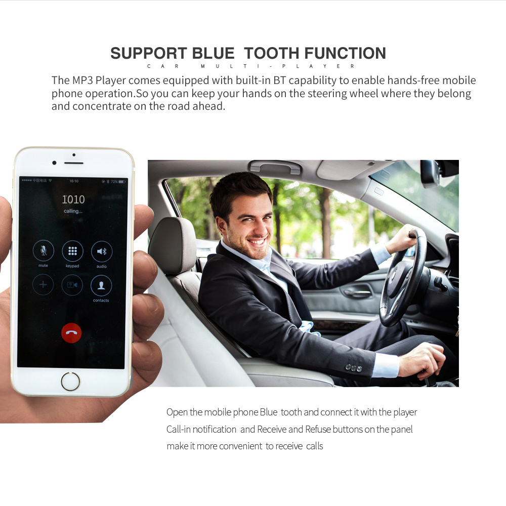 Image 4 - 12V Bluetooth MP3 Player Wireless Receiver Vehicle Mp3 Decoder Board Car FM Radio Module TF USB 3.5mm AUX Audio Adapter Car Kit-in Car MP3 Players from Automobiles & Motorcycles