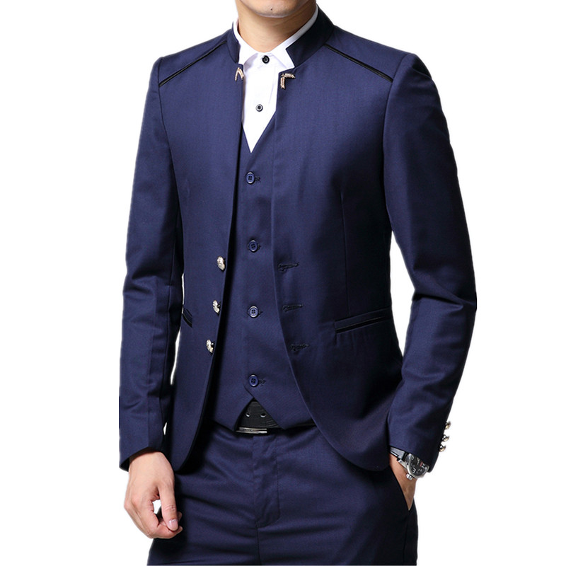 Inventive High Quality Man Three Piece Suits Sets / Male Blazers Jacket Vest Pants Business Coat Trousers Casual Suit